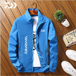 Daiwa Jacket Men Fishing Shirt Solid Thin Uv Protection Summer Breathable Quick Dry