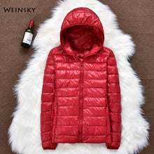 Load image into Gallery viewer, Winter Women Ultralight Thin Down Jacket