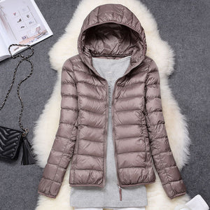 Winter Women Ultralight Thin Down Jacket