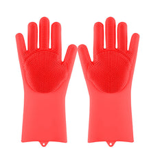 Load image into Gallery viewer, Dish Washing Sponge Rubber Scrub Gloves Kitchen Cleaning 1 Pair