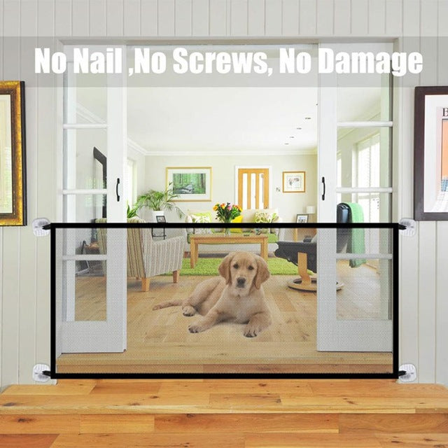 New Pet Barrier Fences Portable Folding Breathable Mesh Dog Gate