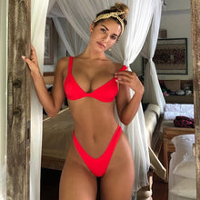 Load image into Gallery viewer, Solid Swimsuit Women Beachwear