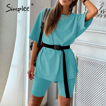 Load image into Gallery viewer, Women's two piece suit with belt