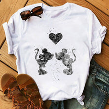 Load image into Gallery viewer, Women's Tops T-Shirts Mickey Mouse Print Short Sleeve