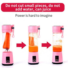 Load image into Gallery viewer, 380mL Mini Portable Electric Fruit Juicer/Smoothie Maker