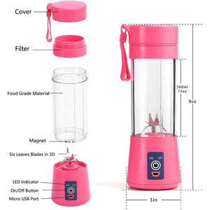 380mL Mini Portable Electric Fruit Juicer/Smoothie Maker