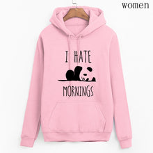 Load image into Gallery viewer, Women's Panda I HATE MORNINGS Sweatshirt