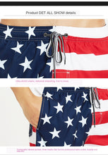 Load image into Gallery viewer, American Flag Quick-Drying Loose-Fit Beach Shorts