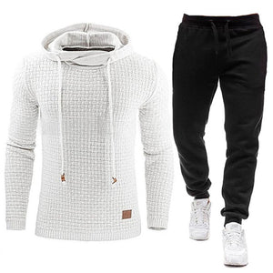 New Tracksuit Solid Hooded Sweatshirt+Pants