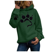 Load image into Gallery viewer, Dog paw Print Women's Hoodie