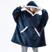Load image into Gallery viewer, Oversized Hoodie Blanket With Sleeves