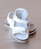 L'Amour Boys White Cork Wedge Double Strap Sandal