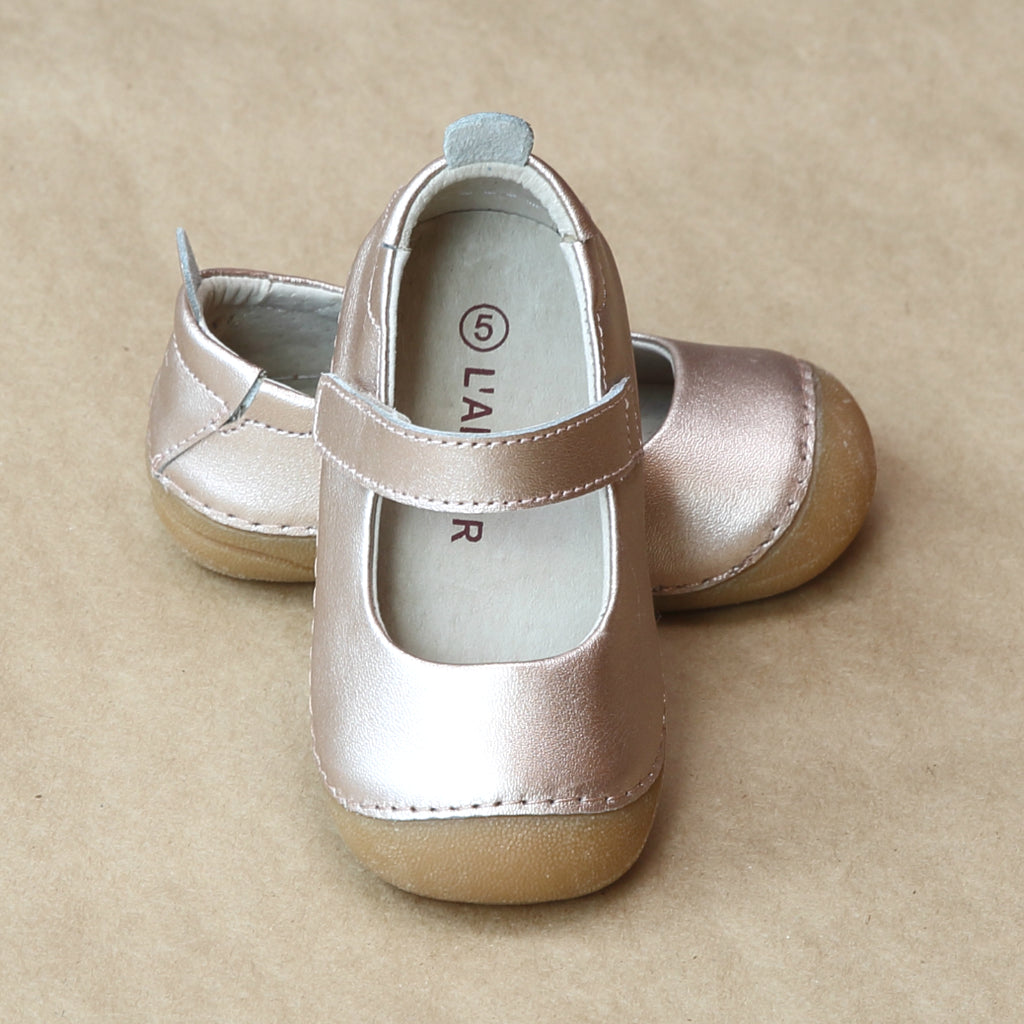 L'Amour Girls Early Walker Copper Mary Jane - Petitfoot.com