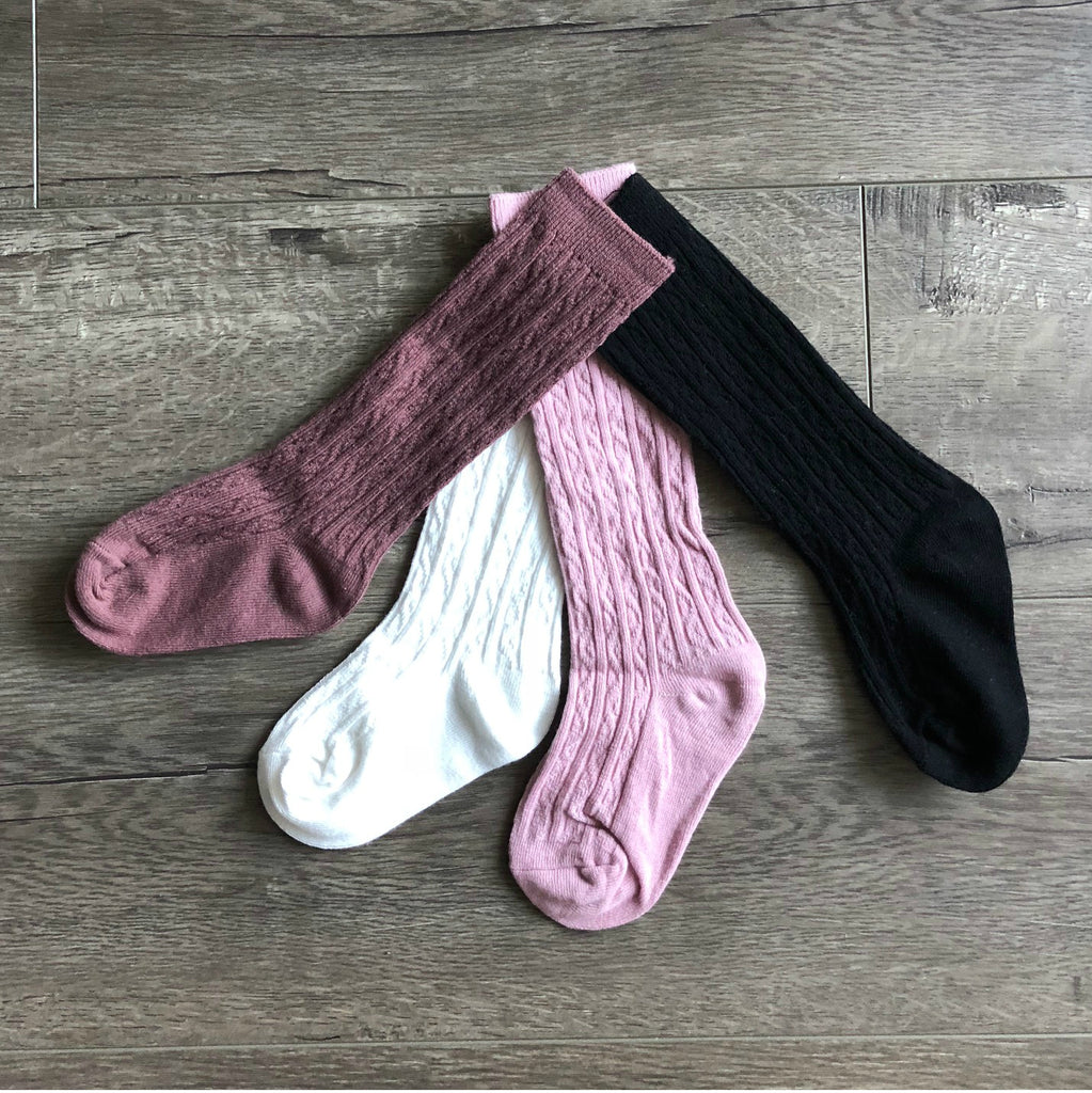 Baby / Toddler Girls Cable Knit Knee Socks - Petitfoot.com