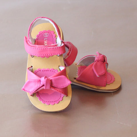 L'Amour Girls Tied Bow Sandal