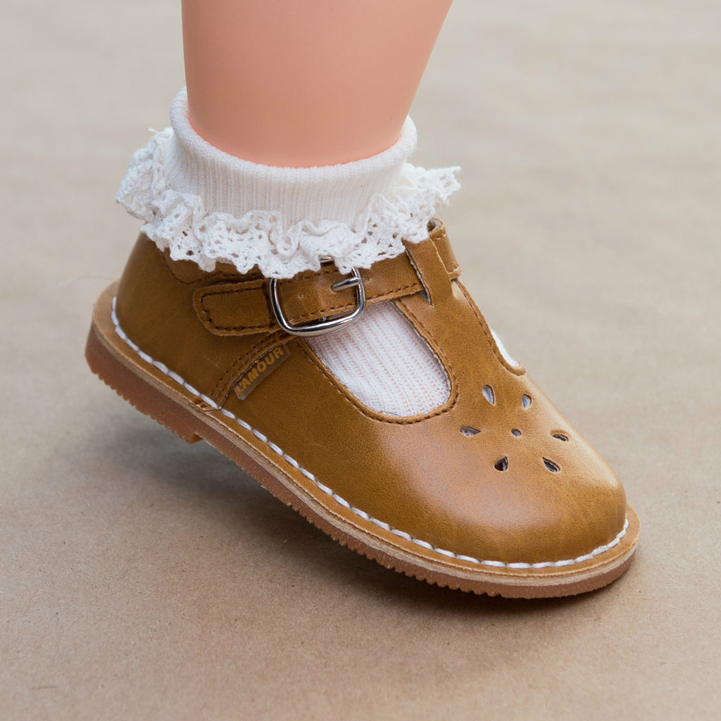 Baby Girls Crochet Trim Dress Ankle Socks - Petitfoot.com