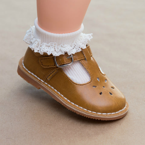 Baby Girls Crochet Trim Dress Ankle Socks