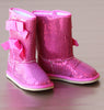 L'Amour Girls Fuchsia Sparkling Sequin Bow Boot