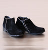 L'Amour Girls Black Corduroy Ankle Boots