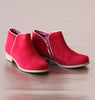 L'Amour Girls Red Corduroy Ankle Boots