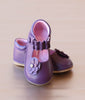 Angel Baby Girls Purple Jeweled Flower Leather Mary Jane