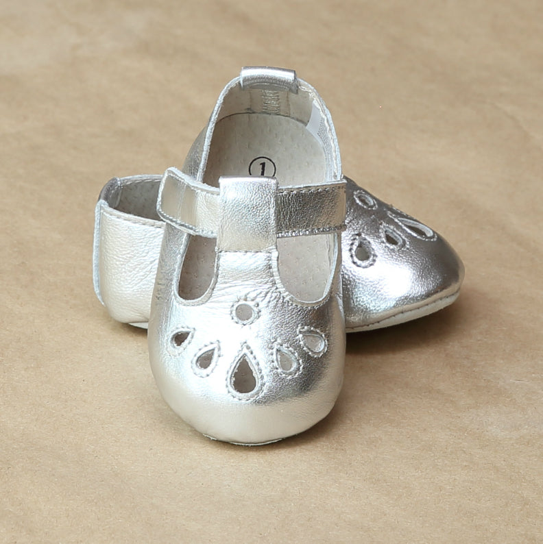 Angel Baby Silver Leather Pre-Walker Mary Jane Shoe - Petitfoot.com