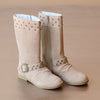 L'Amour Girls Sand Suede Stud Boot