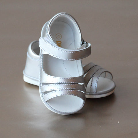 FINAL SALE - Angel Baby Girls Triple Strap Open Toe Sandal