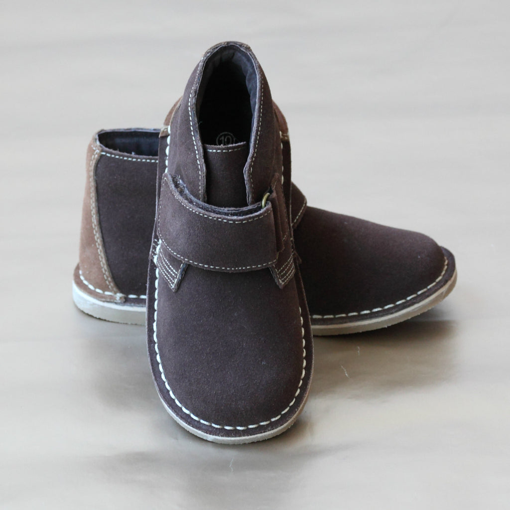 L'Amour Boys Brown Ankle Desert Boots