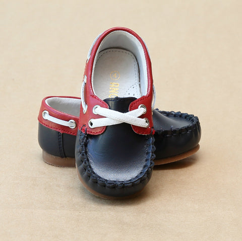 Angel Baby Boys Hudson Two Tone Boat Shoe