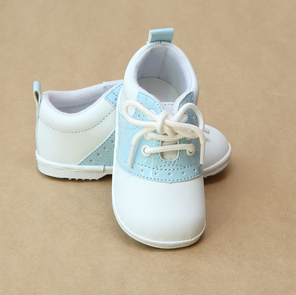 Angel Baby Boys Austin Patent Saddle Oxford Shoe - Petitfoot.com