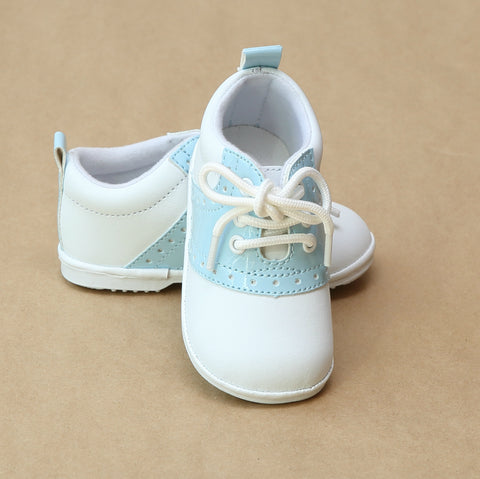 Angel Baby Boys Austin Patent Saddle Oxford Shoe