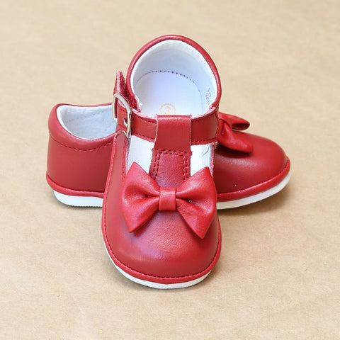 Angel Baby Girls Minnie Classic T-Strap Bow Mary Jane