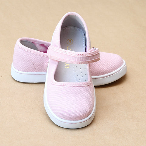 L'Amour Girls Jenna Playground Canvas Mary Janes