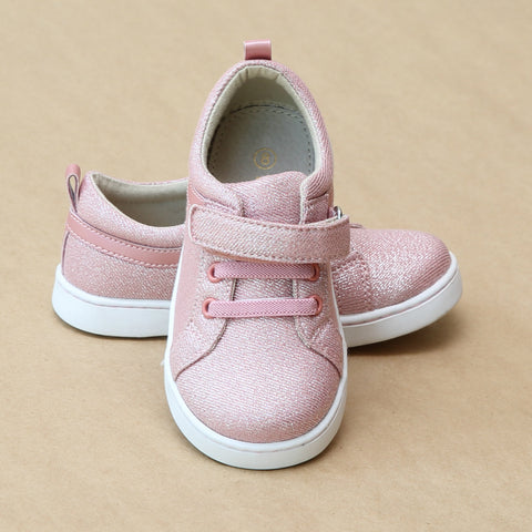 L'Amour Girls Natalie Metallic Pink Flexible Sneaker