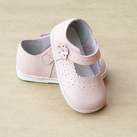 Angel Baby Girls Scalloped Mary Janes