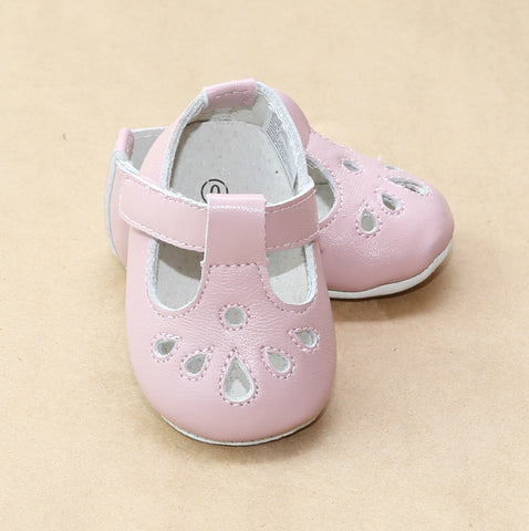Angel Baby Leather Pre-Walker T-Strap Mary Jane Shoe