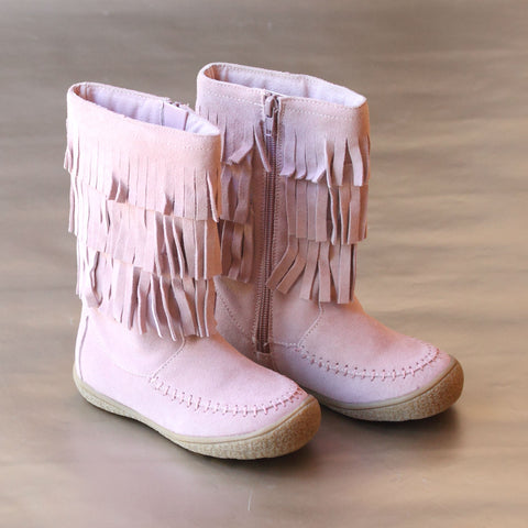 L'Amour Girls 3-Layer Fringe Boot