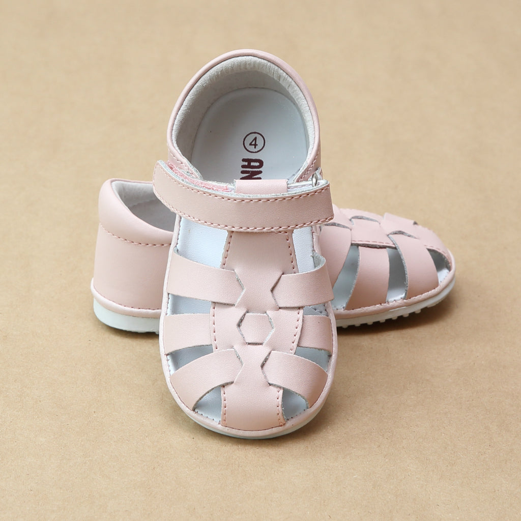 Angel Baby Girls Christie Leather Fisherman Sandal - Petitfoot.com