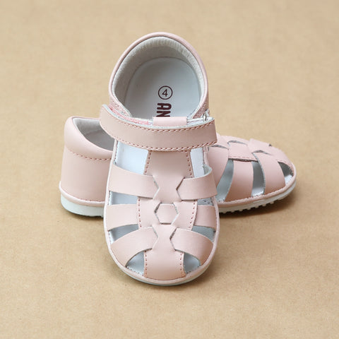 Angel Baby Girls Christie Leather Fisherman Sandal