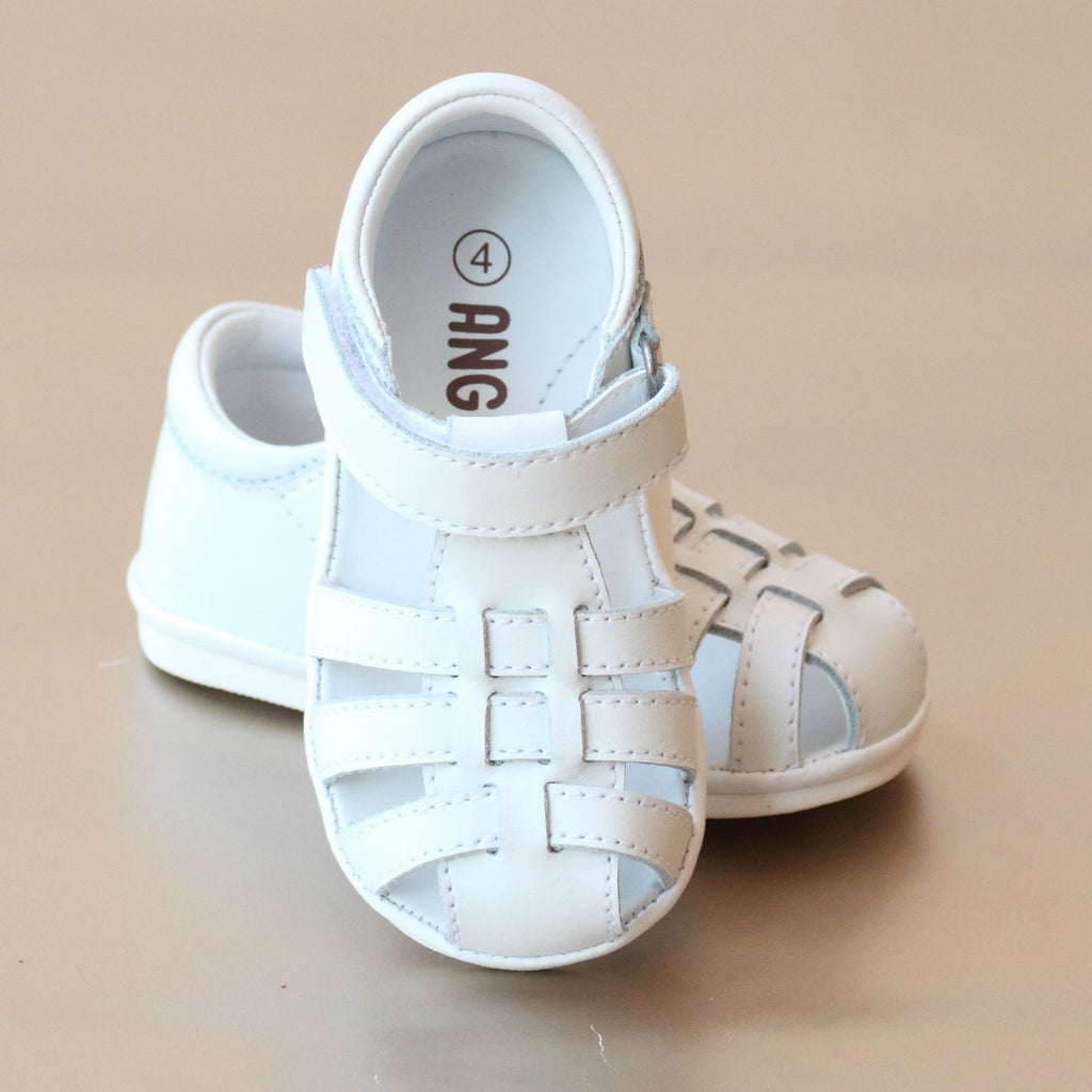 Angel Baby Boys Leather Lattice Fisherman Sandal – Petit Foot