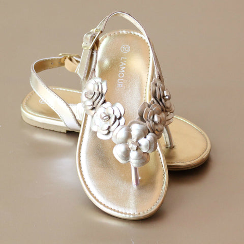 FINAL SALE - L'Amour Girls Sakura Blossom Sandal