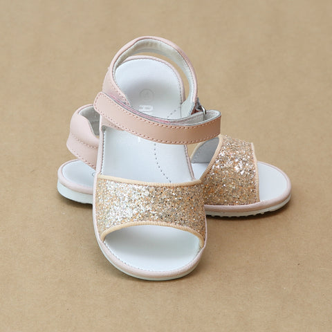Angel Baby Girls Elise Glitter Open Toe Sandal