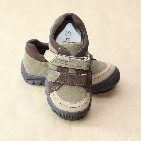 L'Amour Boys Sporty Double Strap Sneaker
