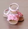 L'Amour Girls Pink Rosette Applique Sandal