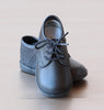 Angel Baby Boys Black Classic Leather Lace Ups