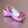 L'Amour Girls Glitter Fuchsia Ballet Flats without Strap