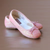 L'Amour Girls Glitter Pink Ballet Flats without Strap