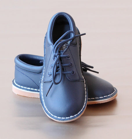 L'Amour Boys Leather Lace Up Shoes