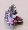 Angel Baby Girls Brown Leather Polka Dot Mary Jane